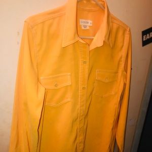 J.CREW dress yellow size 10 shirt dress cute